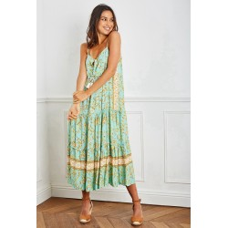 Dress Carmen green